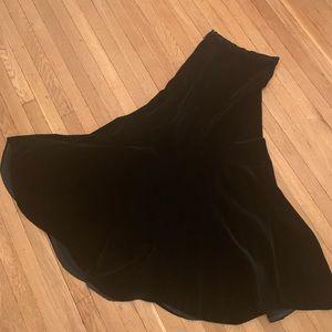 Vintage Ellen Tracy high waisted velvet skirt